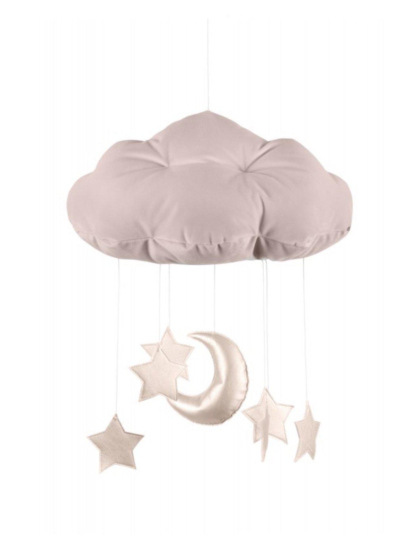 Závesná dekorácia Oblak nad postieľku Rose 01
