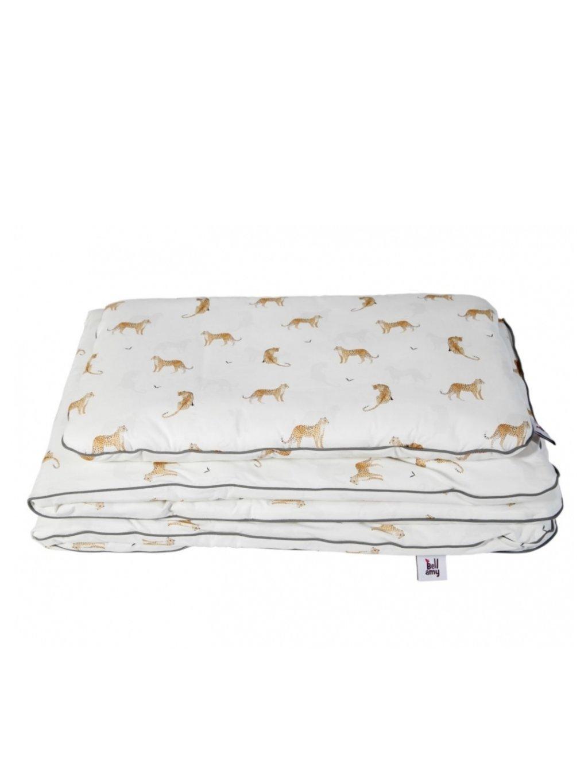 Set detskej bavlnenej prikrývky s vankúšom Leopardus 01