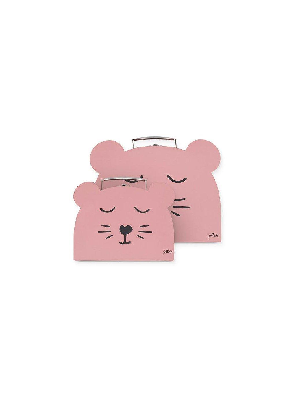 Kufrík na hračky ružové Animal Club 2 ks 3