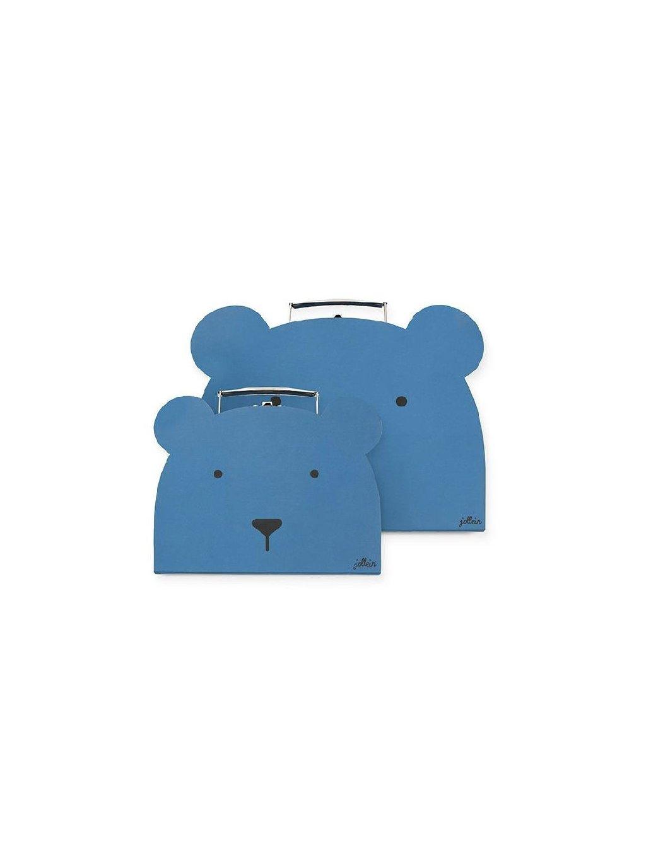 Kufrík na hračky modré Animal Club 2 ks