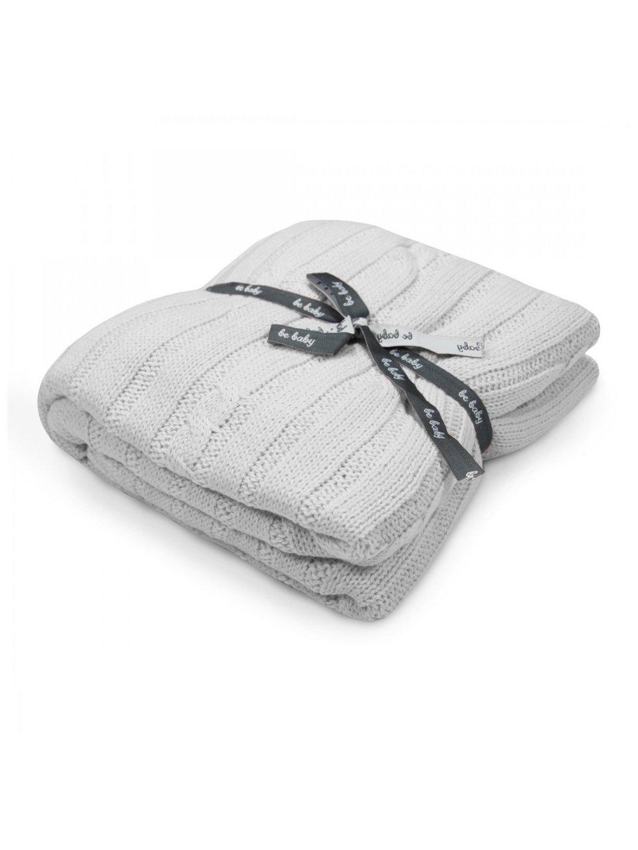 Bavlnená sivá deka Little Baby