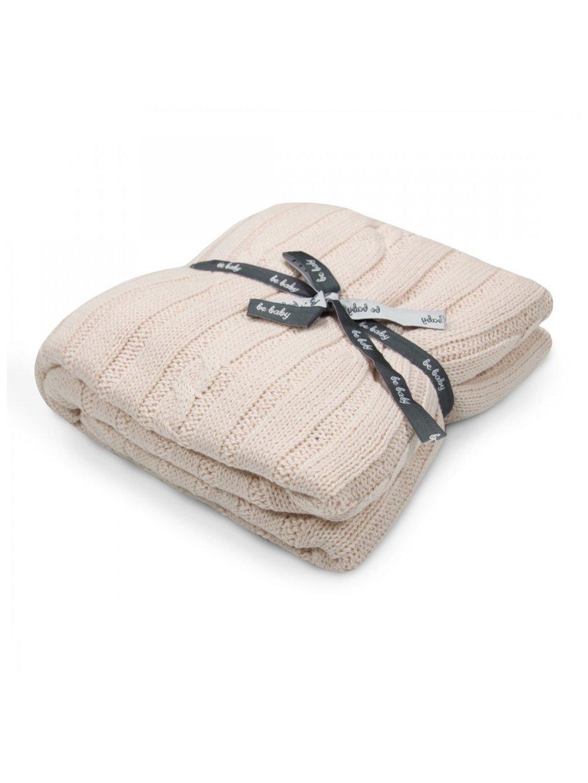 Bavlnená krémová deka Little Baby