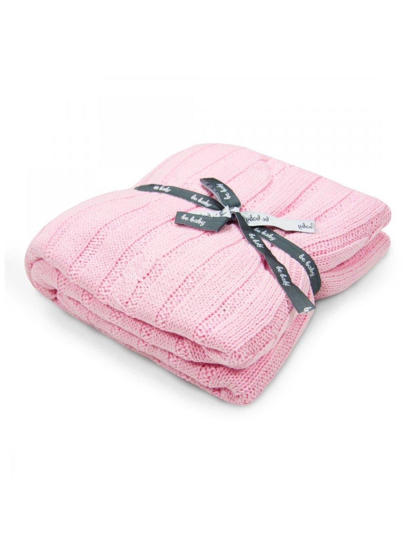 Bavlnená ružová deka Little Baby