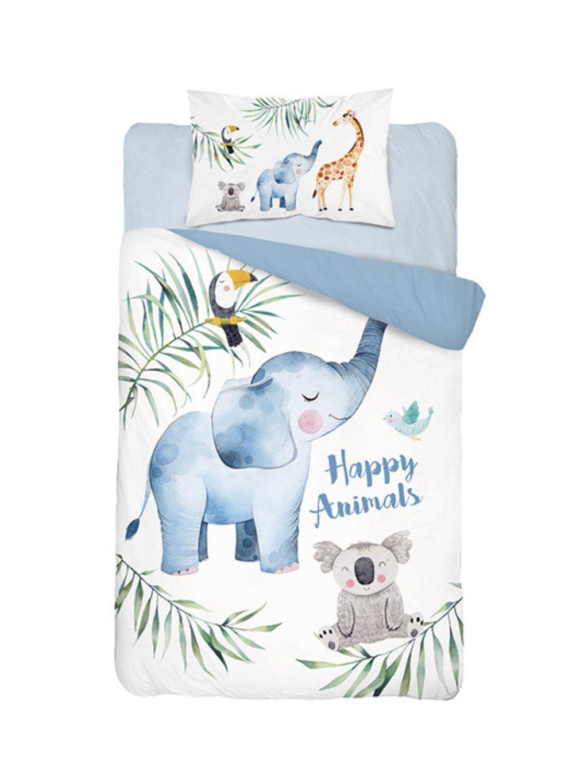 Bambusové obliečky Happy Animals babyblue rôzne rozmery