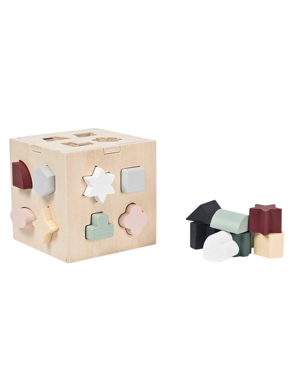 Drevená triediaca kocka