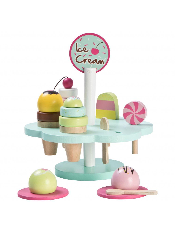 Drevená zmrzlina set