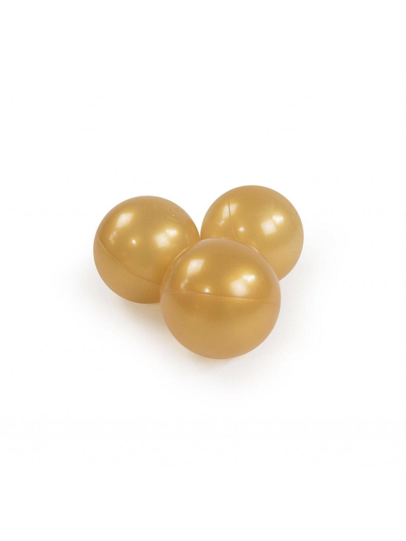 Detské loptičky zlaté 50ks