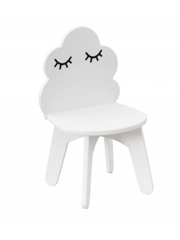 Detská biela stolička Obláčik 00