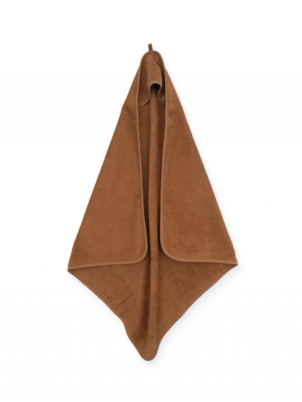 Uterák Frotté s kapucňou Jollein 75x75 cm caramel