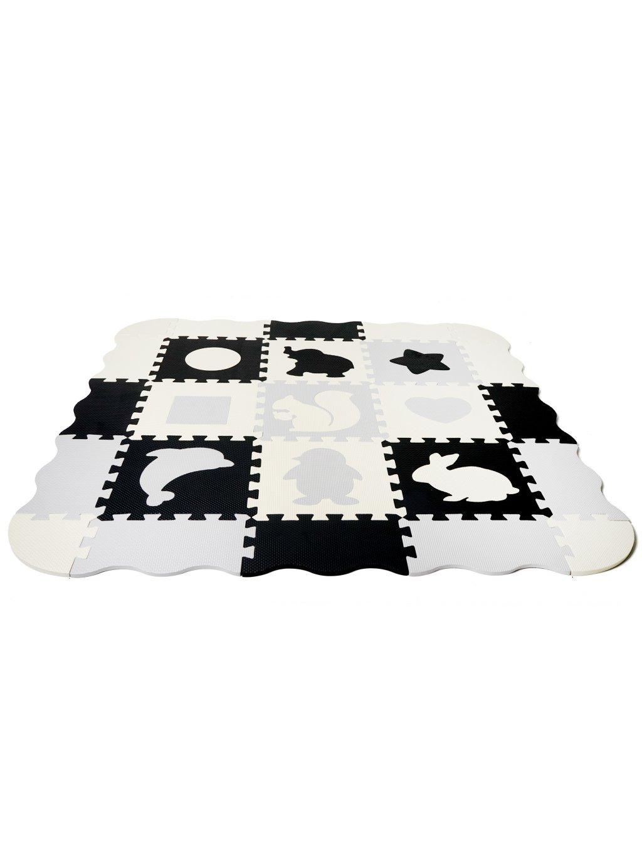 Penové puzzle na hranie Zvieratká 120x120 cm 2