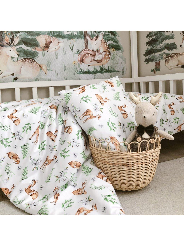 Detské bavlnené obliečky Woodland 100x135 posledný kus 4