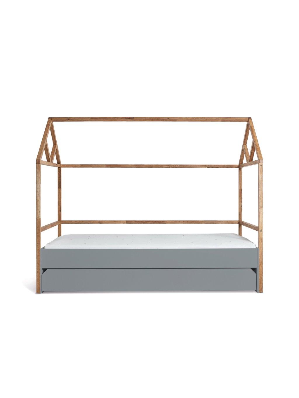 Detská domčeková posteľ Lotta Grey 200x90