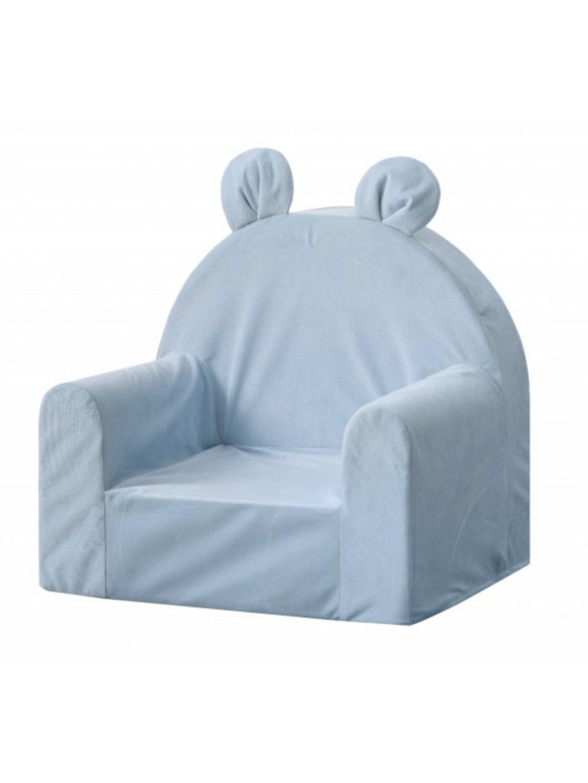 Detské kresielko s ušami babyblue 3