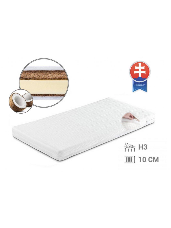 Detský kokosový matrac Baby Coco Classic 120x60x10 cm