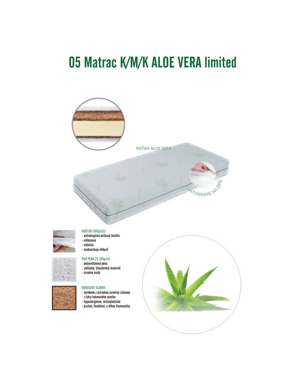 Kokosový matrac Baby Coco Aloe 120x60x10 cm