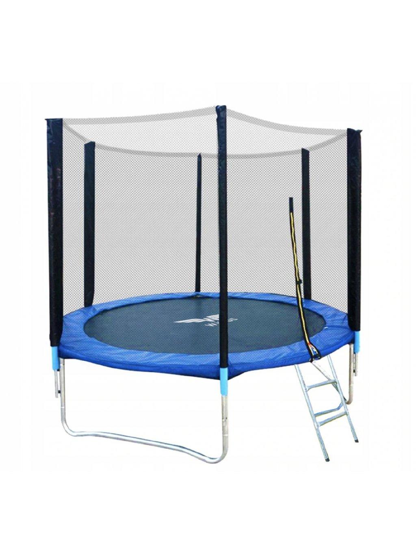 Trampolína pre deti Wings + ochranná sieť + schodíky 244 cm 8FT 5