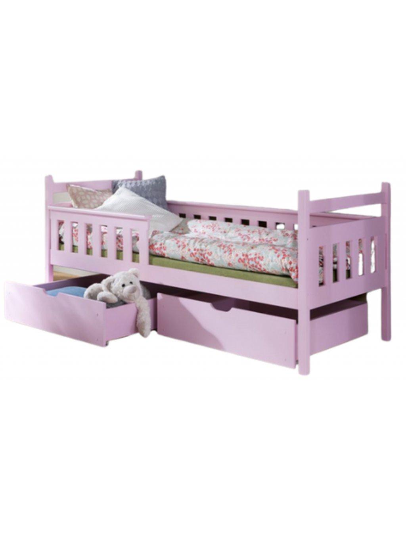 Detská masívna posteľ Ema + bariéra rôzne farb