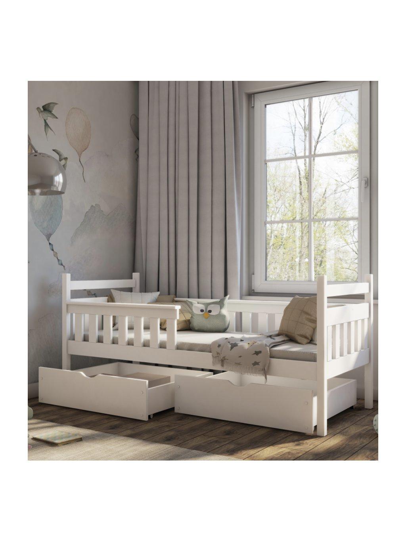 Detská masívna posteľ Ema 180x80 + bariéra rôzne farby