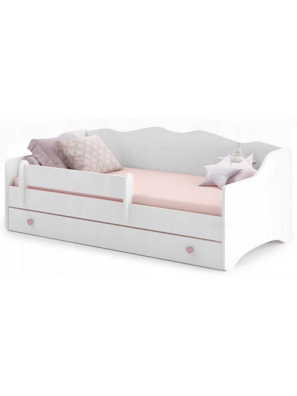 Detská posteľ Ema 160x80 + bariéra + úložný box 01