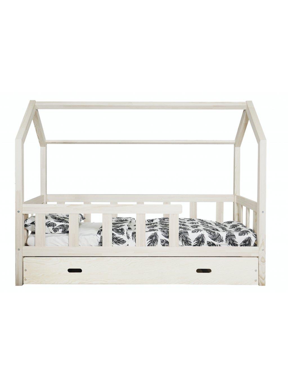 Masívna detská posteľ Domček + úložný box rôzne rozmery 01