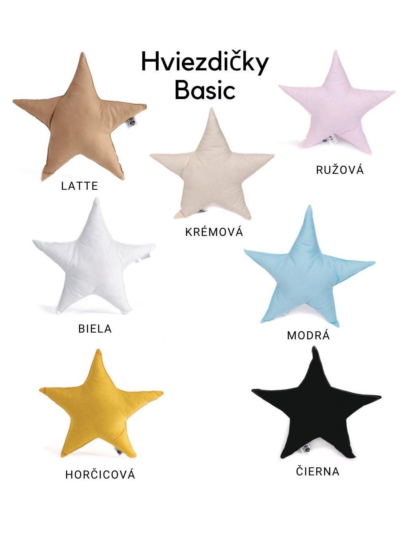 Vankúš Hviezdička Basic - viac farieb