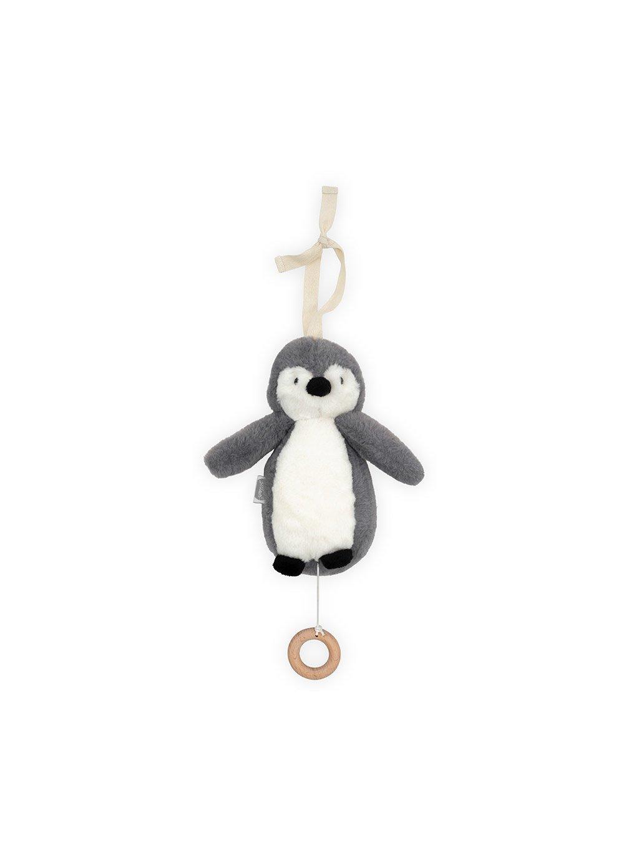 Závesný tučniak s hudbour Jollein sivý
