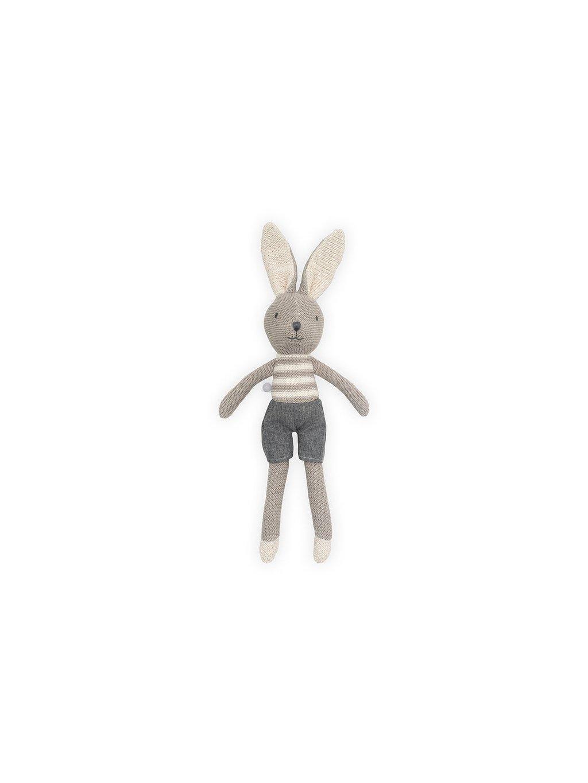 Zajačik Joey Jollein sivý 50 cm