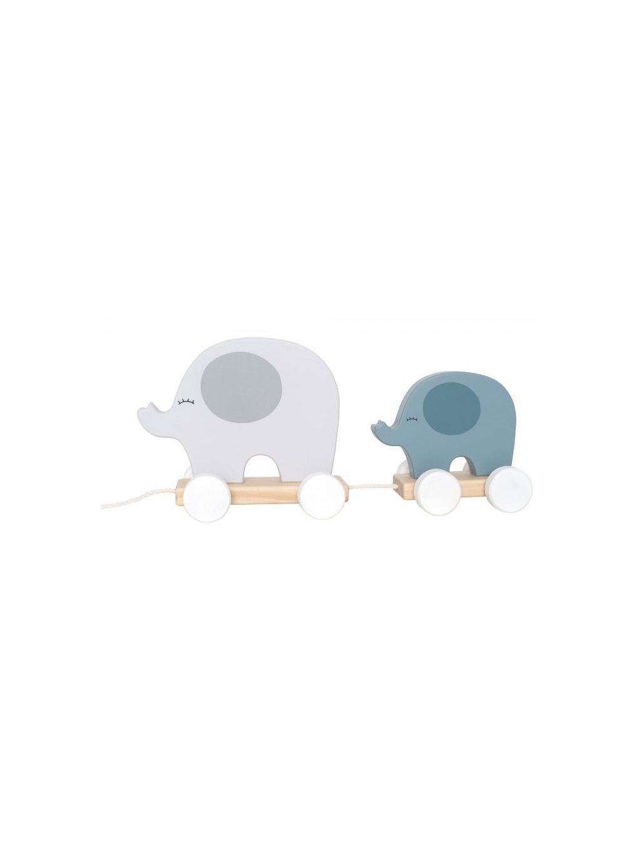 Jabadabado Hračka na ťahanie slon sivý