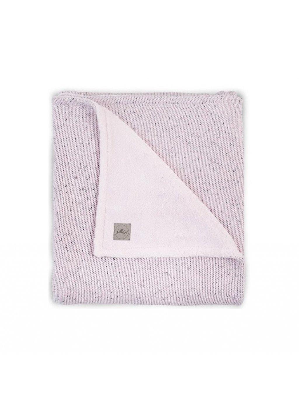 Detská deka 75x100 cm Confetti Teddy celoročná s flísom ružová 1