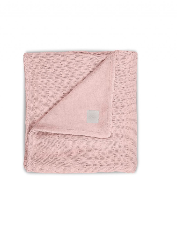 Detská deka 75x100 cm Soft knit celoročná s flísom peach 1