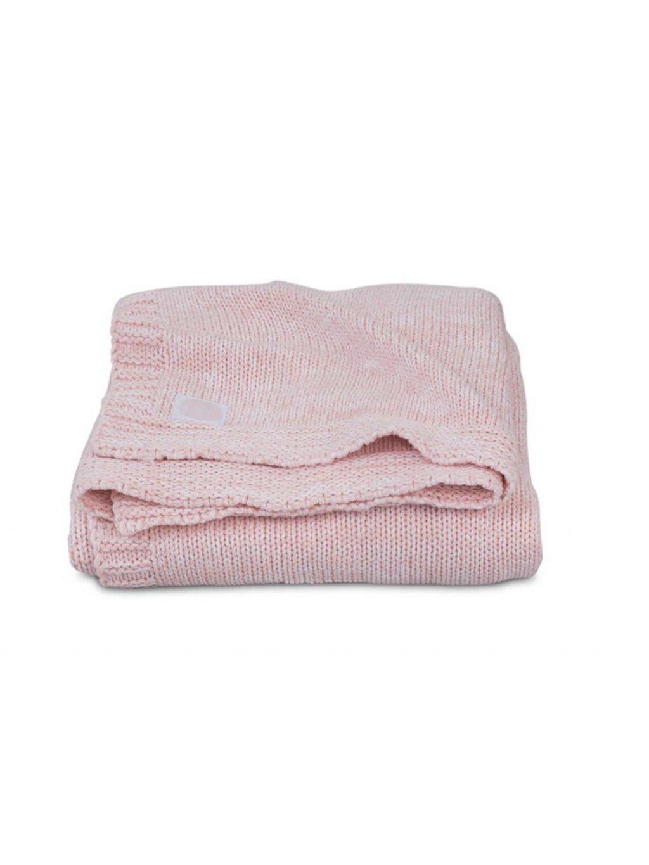 JOLLEIN Detská deka 100x150 cm Melange Knit soft – pink