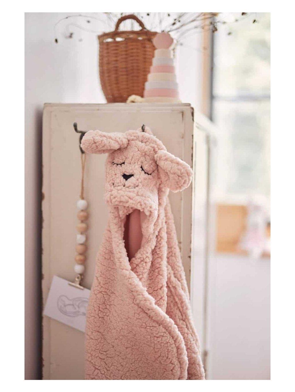 Detská Wrap deka Bunny Jollein 100x105cm ružová 6