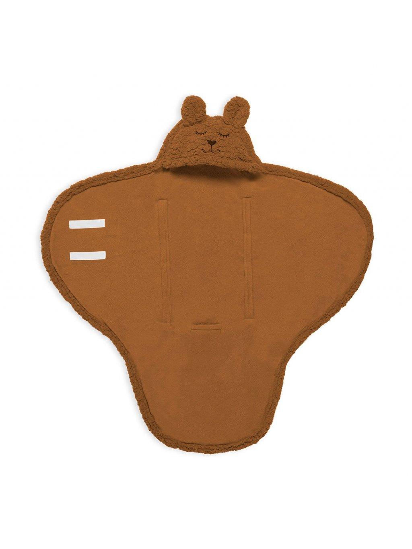 Detská Wrap deka Bunny Jollein 100x105cm caramel 0