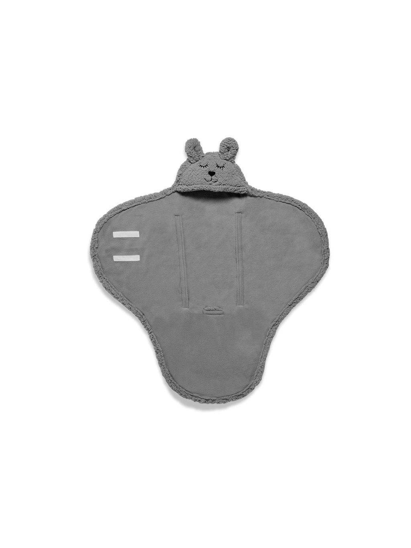 Detská Wrap deka Bunny Jollein 100x105cm sivá