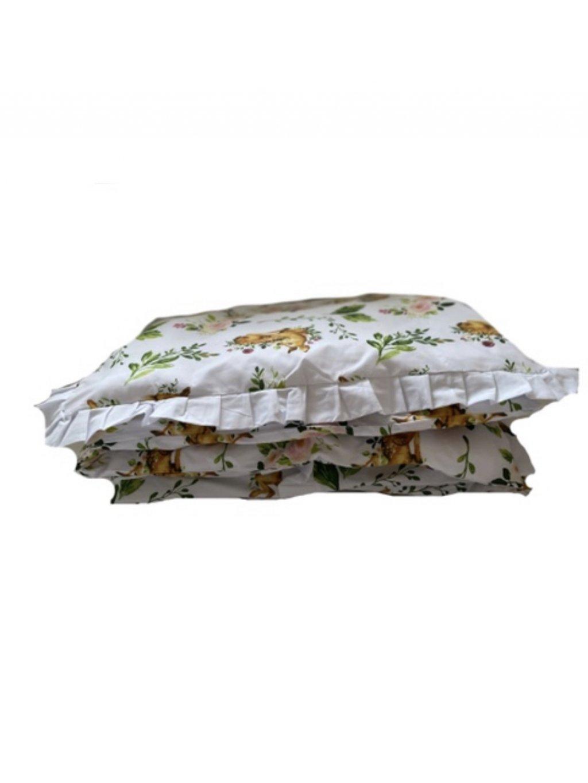 Detská bavlnená obliečka Woodland s Volánom 100x135 - Posledné 2ks