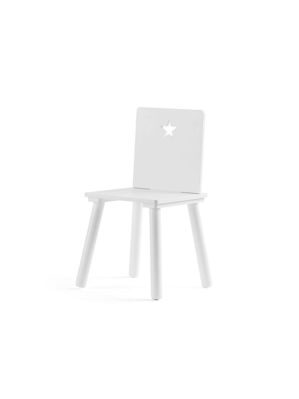 Detská biela stolička Hviezda 1
