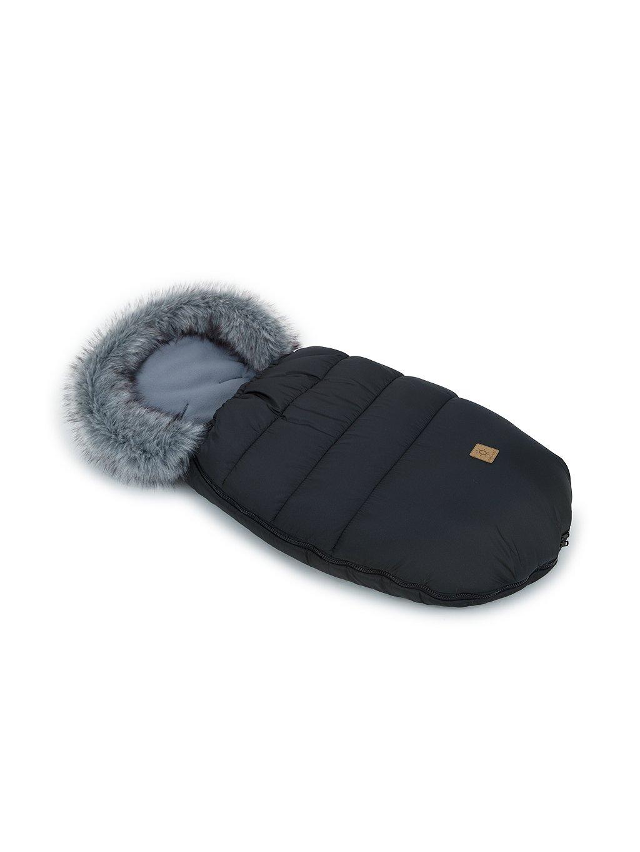 Mamo Tato Zimný fusak s kožušinkou, 50 x 100cm čierny 0