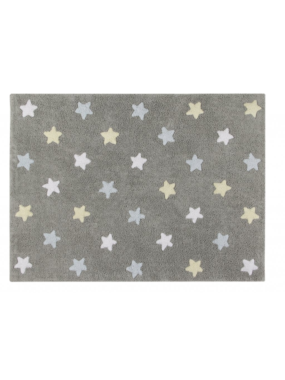Detský koberec Tricolor Star Gris:Azul 120 X 160 Cm 002