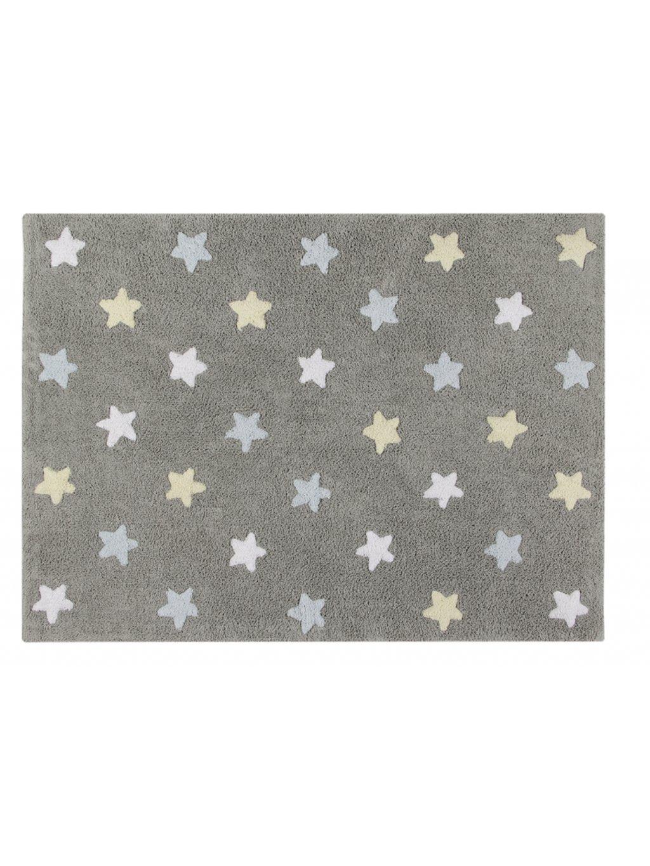 Detský koberec Tricolore Stars Grey 09
