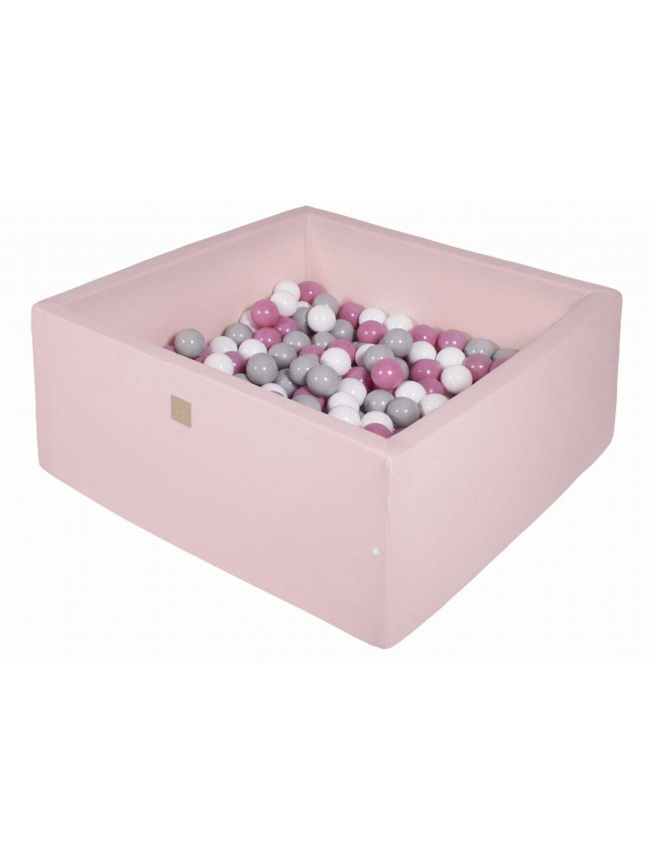 Suchý bazén pre deti ružový 90x90x40 (200 loptičiek) 11