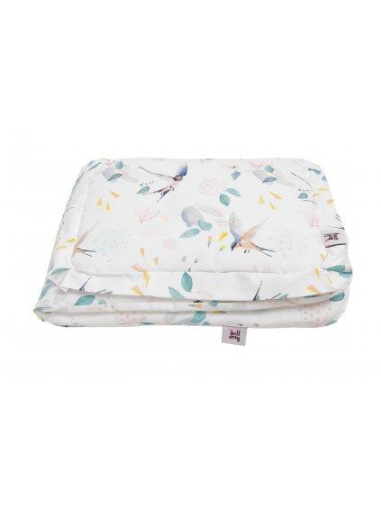 Set detskej bavlnenej prikrývky s vankúšom Fly bed 0