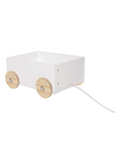 Úložný box na kolieskach z dreva - malý