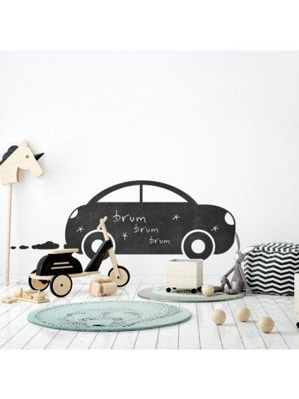 Nalepovacia tabuľa na stenu Auto