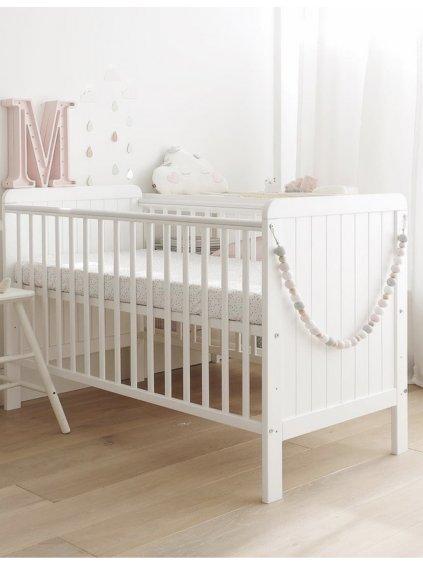 Detská biela postieľka Melisea Safe Dreams 0