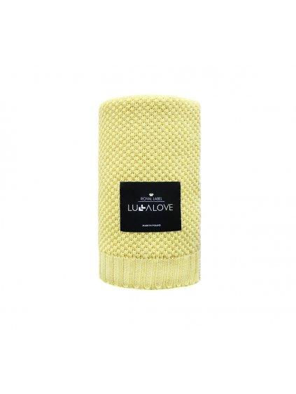 Bambusová deka Lulalove makarónová žltá 01