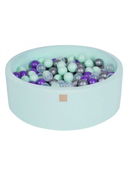 Suchý bazén pre deti 90x30 cm + 200 guličiek mentolový 022