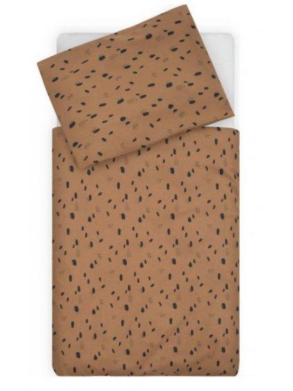 Bavlnené obliečky Spot Caramel 135x100 cm 00