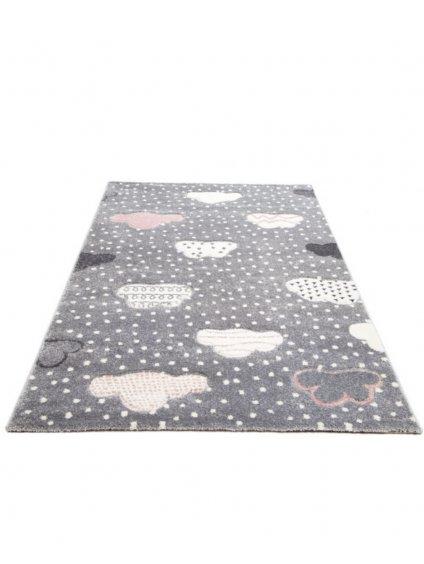 Detský koberec Bubbly sivý 120 cm 010