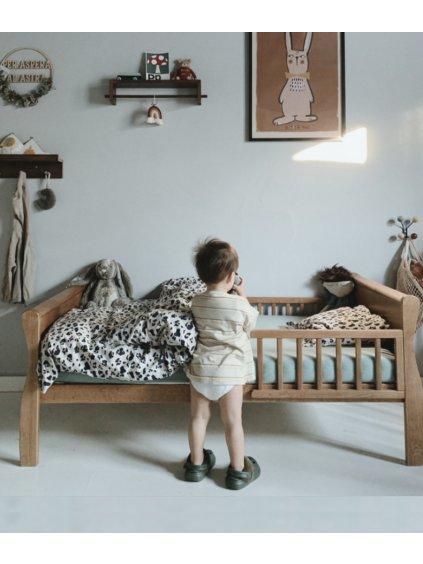 Detská posteľ Vintage Nobleo Leon 140x70 + bariérky 1