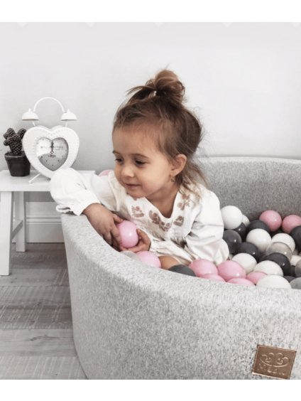 Detský sivý bazénik Premium + 200 loptičiek 11